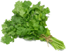 1 leaf of razor leaf or 1 sprig of cilantro (optional)
