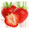 1/2 taza de fresas